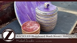 Recycled Skateboard Stash Boxes : Making of