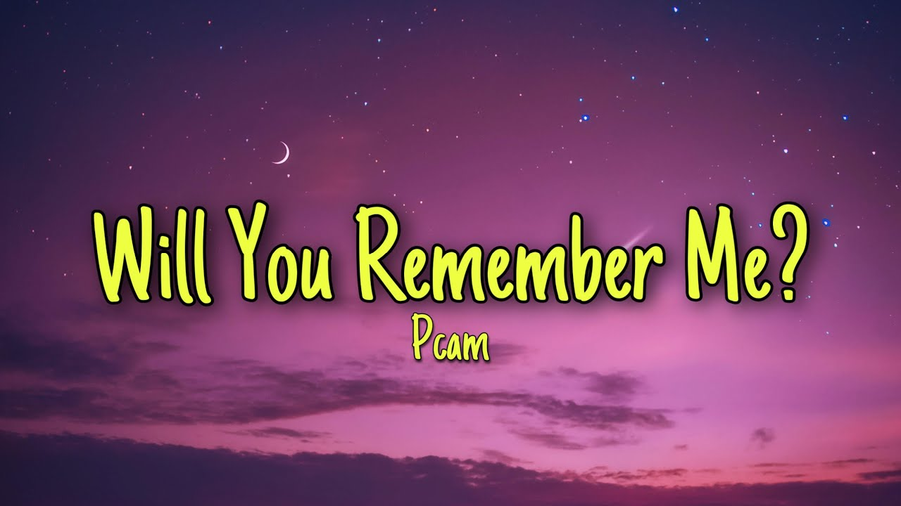 Will You Remember Me? - Pcam (Lyrics) this is it money tik tok song