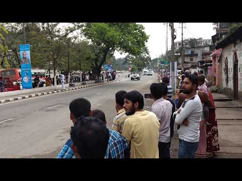 President of India  convoy  passing in guwahati