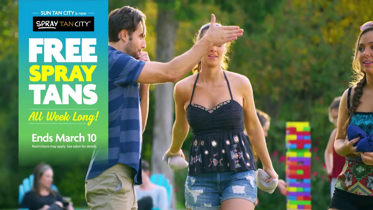 It S Free Spray Tan Week At Sun Tan City 15 Youtube