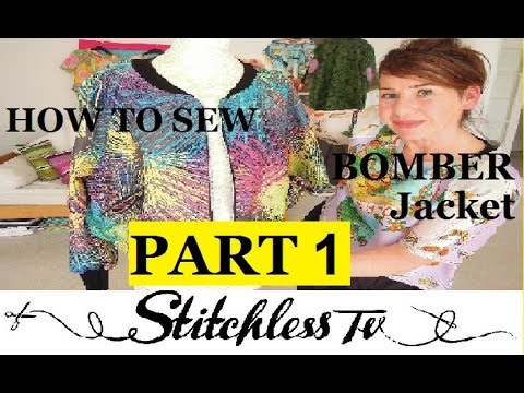 How to sew a bomber jacket PART 1 - YouTube