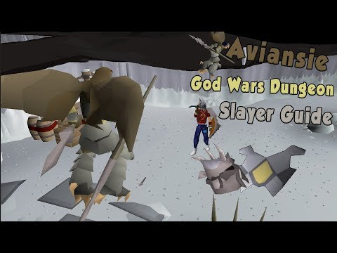 OSRS God Wars Dungeon Aviansies Slayer Guide 2017