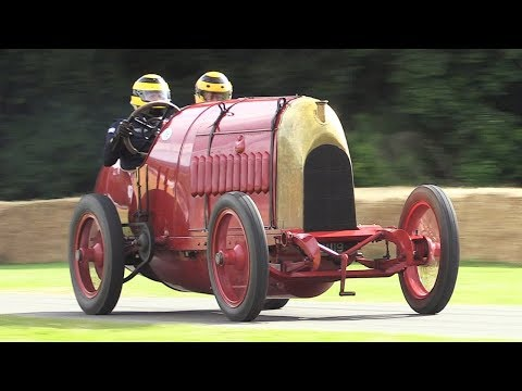 The Beast of Turin: 1911 Fiat S76 in Action - 28.4-litre 4-Cylinder Engine Sound