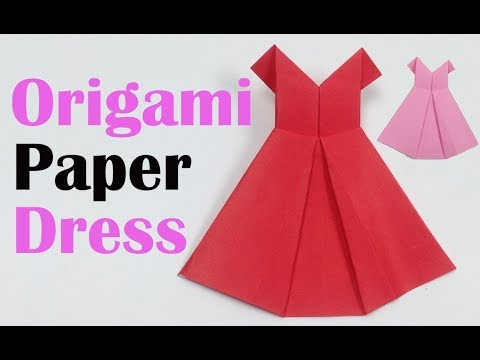 How to Make a Pretty Origami Paper Dress 👗 | Origami Paper Folding Craft, Videos Tutorials for Kids