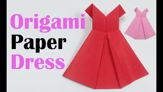 How to Make Origami Dress - Easy Tutorial for Beginners - Paper ... | 180x320