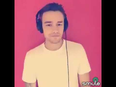 Liam Payne singing an a cappella of Strip that down for the app smule