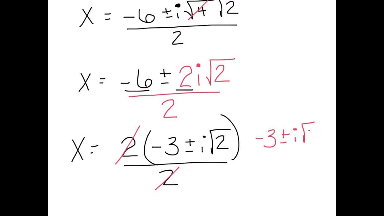 prove quadratic formula for complex numbers