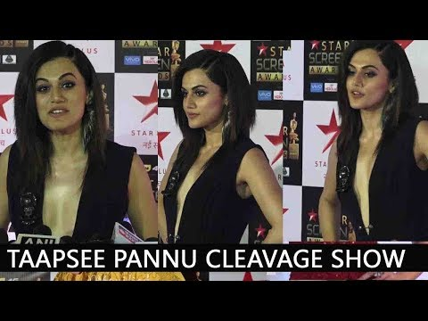 Taapsee Pannu Cleavage Show | Star Studded | Red Carpet | Star Screen Awards 2017 thumbnail
