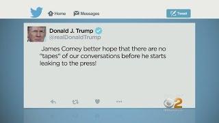 President Trump Warns Comey On Twitter