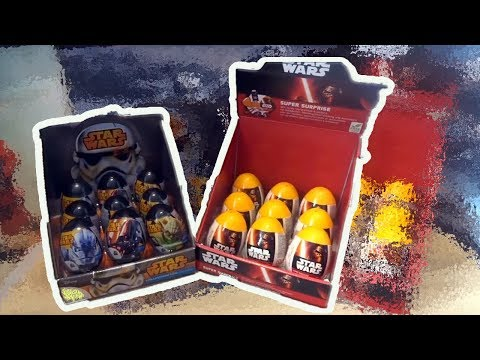 Star Wars 18 Darth Vader Kylo Ren Stormtrooper Kinder Surprise Eggs