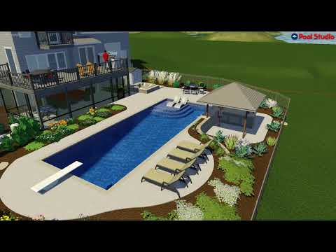Muskego, WI Pool Design with Swim Up Bar