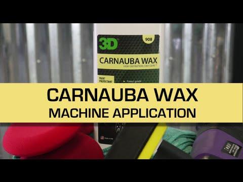 Machine Application of CARNAUBA WAX