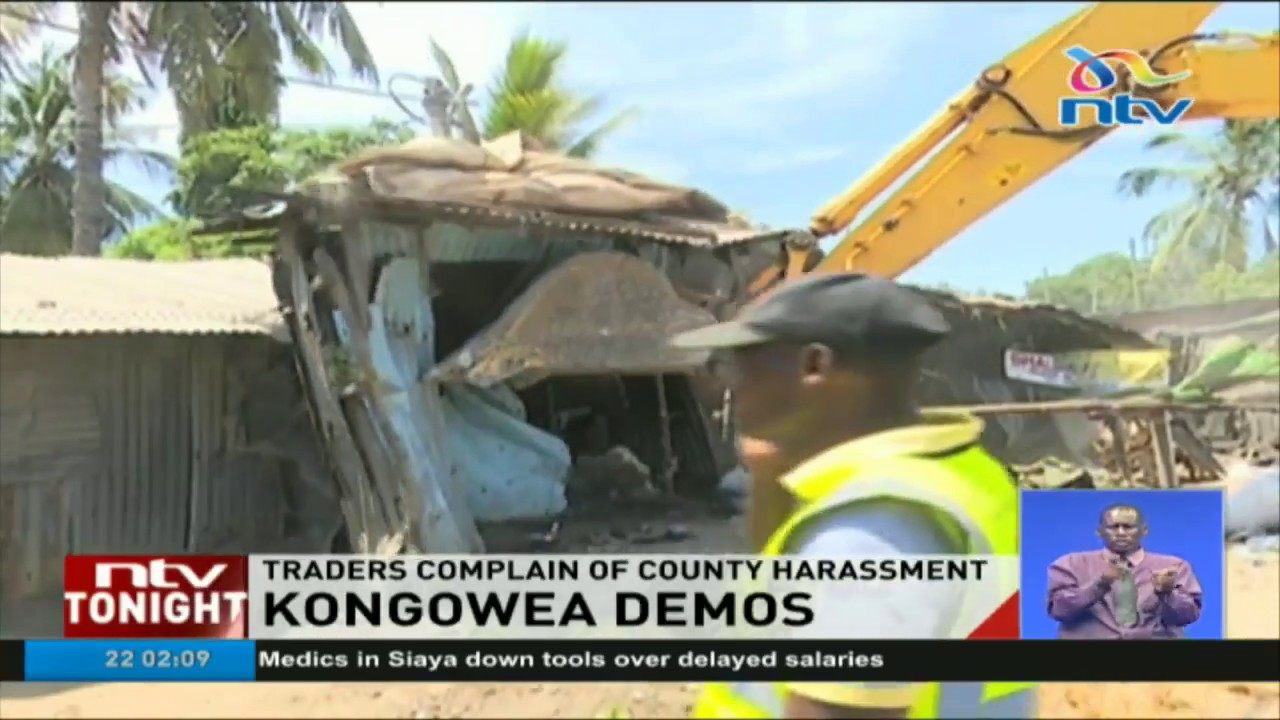 Vendors block Mombasa-Malindi highway after stalls demolition