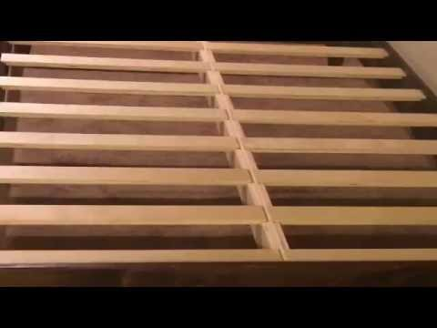 easy to assemble and disassemble platform bed frame - youtube