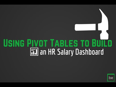 Step 1: Building the HR Salary Dashboard Calculations Tab Using Pivot Tables