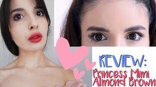 REVIEW: Princess Mimi Almond Brown Circle Lenses (Uniqso) For Dark Eyes