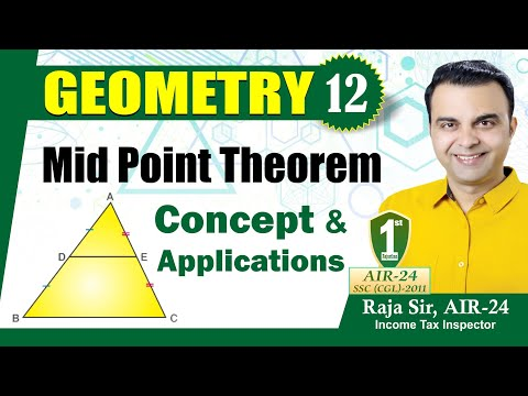 Geometry Part 12, Midpoint Theorem (Equilateral triangle, Isosceles triangle) for SSC, CDS, CAT