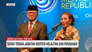 Sertijab Susi Pudjiastuti Kepada Edhy Prabowo Menteri Kelautan dan Perikanan