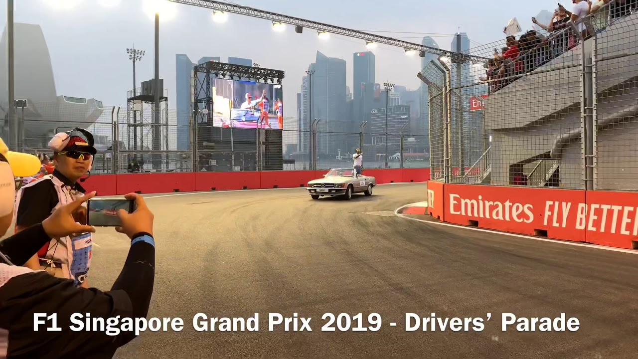 F1 Singapore Grand Prix 2019 - Drivers' Parade - YouTube