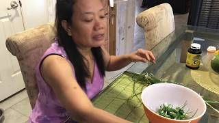 Harvesting Chives In My Backyard + Nagluto Si Hubby