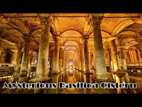 Basilica Cistern Under Ground Old City Tour Video 3, Istanbul Turkey