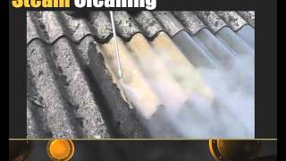 steam cleaning an asbestos roof