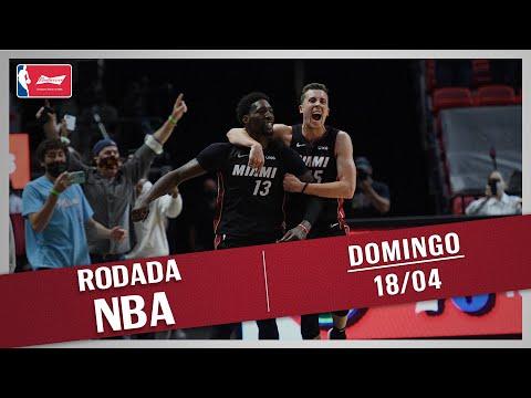 RODADA NBA 18/04 - ADEBAYO NO ÚLTIMO SEGUNDO, KNICKS NA PRORROGAÇÃO, TOP 10 E MAIS!