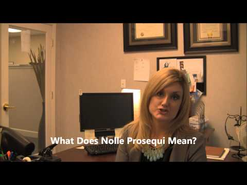 What is Nolle Prosequi?