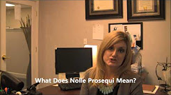 What is Nolle Prosequi?