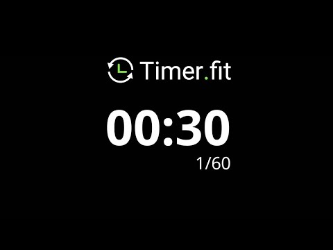 30 Second Interval Timer with 10 Seconds Rest