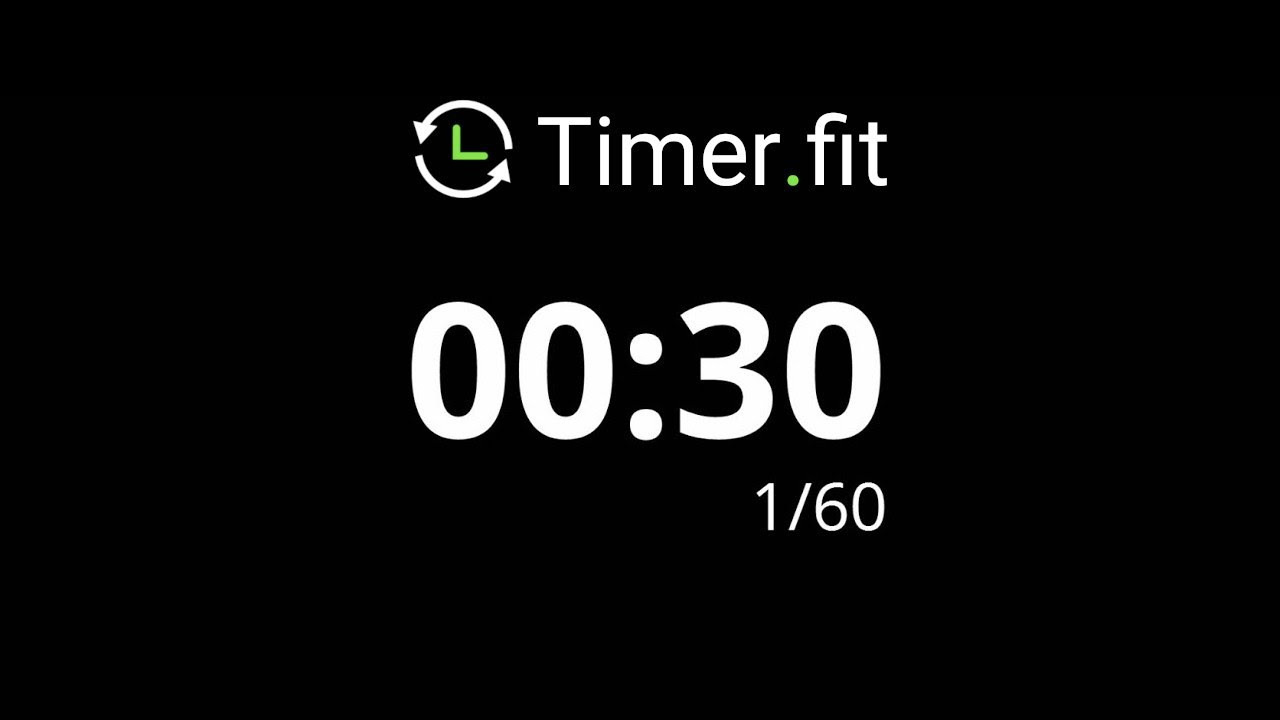 30 second interval timer with 10 seconds rest youtube