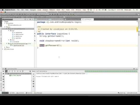 Unit Testing Android Code using Android Studio and the Model-View-Presenter Pattern