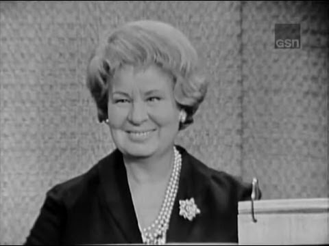 What's My Line?  Hedda Hopper; Shirley Booth; Steve Lawrence panel Mar 10, 1963