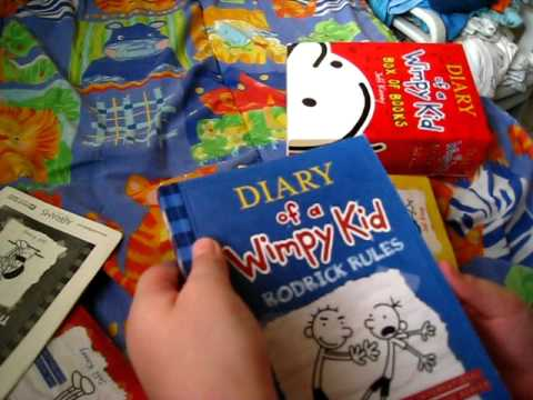 Diary of a wimpy kid box of books preview youtube solutioingenieria Image collections
