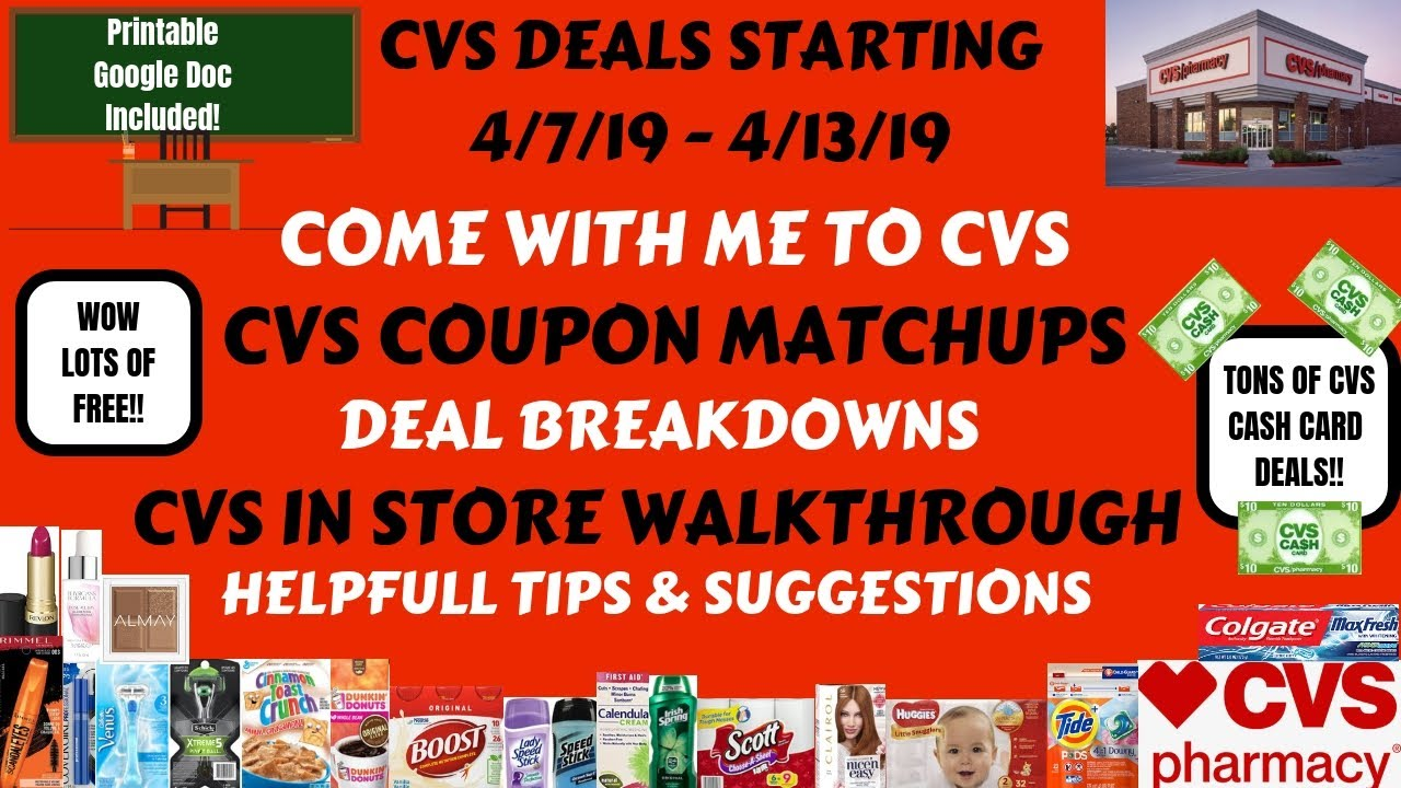 Free Cheap Cvs Deals Starting 4 7 19 Cvs In Store Walkthrough Coupon Matchups Come With Me Wow