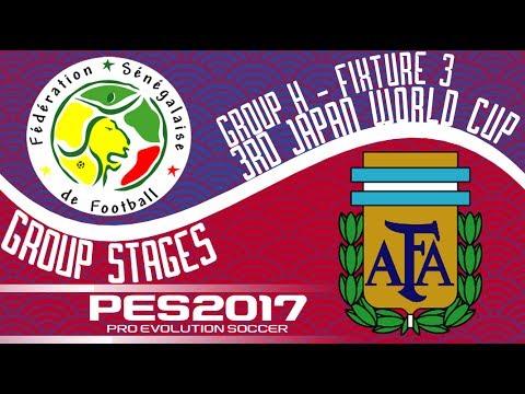 Senegal vs. Argentina - 3rd Japan World Cup - Fixture 3 - PES2017 - 60fps