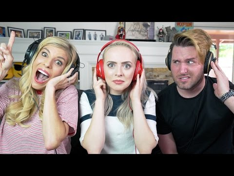Thumbnail: SINGING WITH NOISE CANCELLING HEADPHONES - Madilyn Bailey, Joshua Evans & Rebecca Zamolo