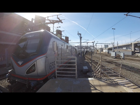 40 Minutes Of Amtrak And MBTA Trains At South Station, MA