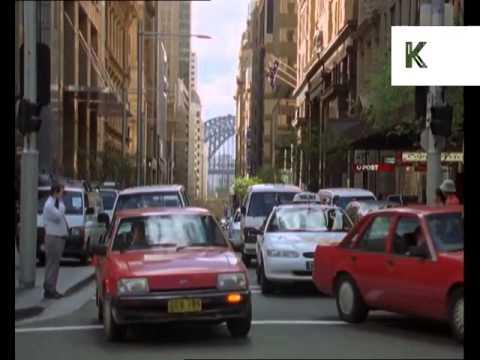 1990s Sydney, Australia, Street Scenes