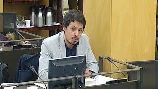 Segundo González en la comisión de Hacienda y Función Pública el 14 de marzo