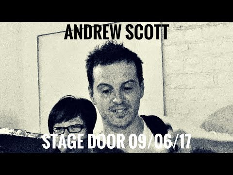 ANDREW SCOTT signing at Harold Pinter Theatre stage door 09/06/17 (Hamlet opening night)