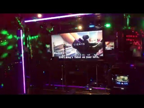Karaoke with SFX Lighting at Côte d'Azur Gotanda