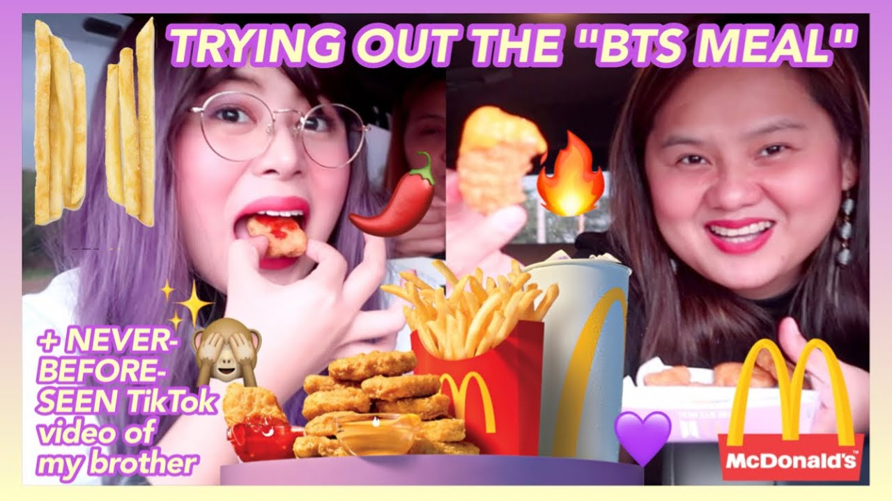 """TRYING McDonald's """"BTS MEAL,"""" FILMING TikTok VIDEOS + NEVER-BEFORE-SEEN TikTok VIDEO OF MY BROTHER 🙈"""