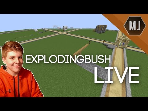 Minecraft | BUILDING ON EXPLODINGBUSH