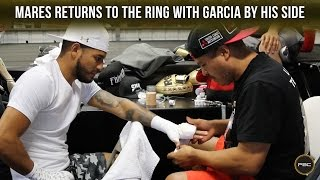 Abner Mares returns to the ring with Robert Garcia by his side