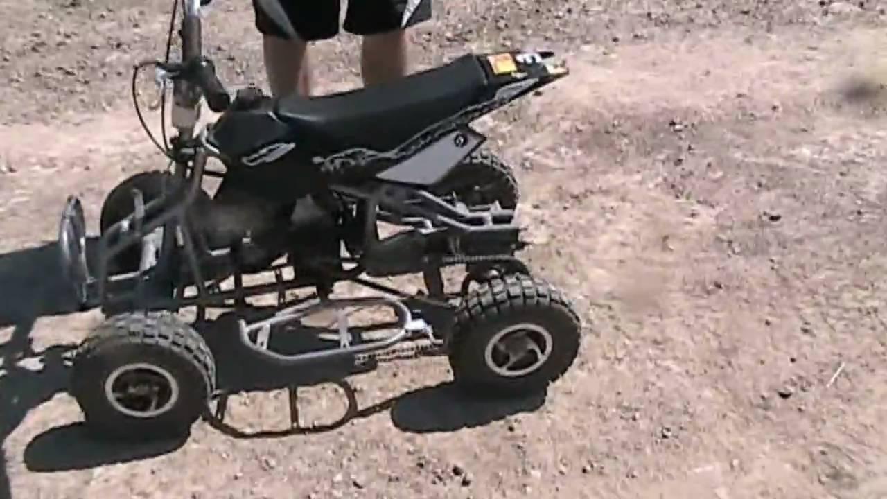 49cc mini quad R  YouTube