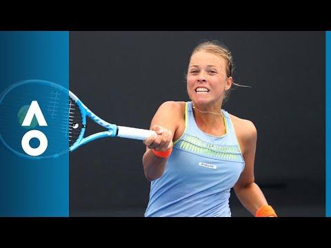 Aleksandra Krunic v Anett Kontaveit match highlights (1R) | Australian Open 2018