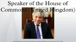 Speaker of the House of Commons (United Kingdom)