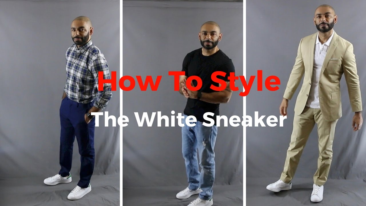 How To Style The All White Sneaker ( Adidas Stan Smith ) 3 ways ( A Spring Essential )