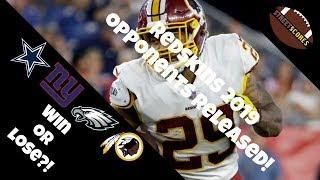 Redskins 2019 NFL Regular Season Opponents! Analysis & Stats!